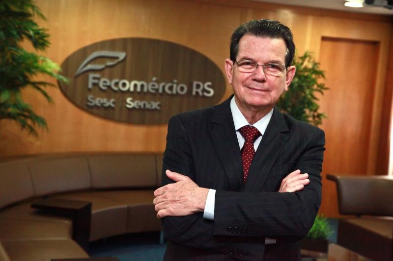 """Presidente da Fecomércio, Luiz Carlos Bohn: """"A Fecomércio continua lutando e expressando sua indignação"""