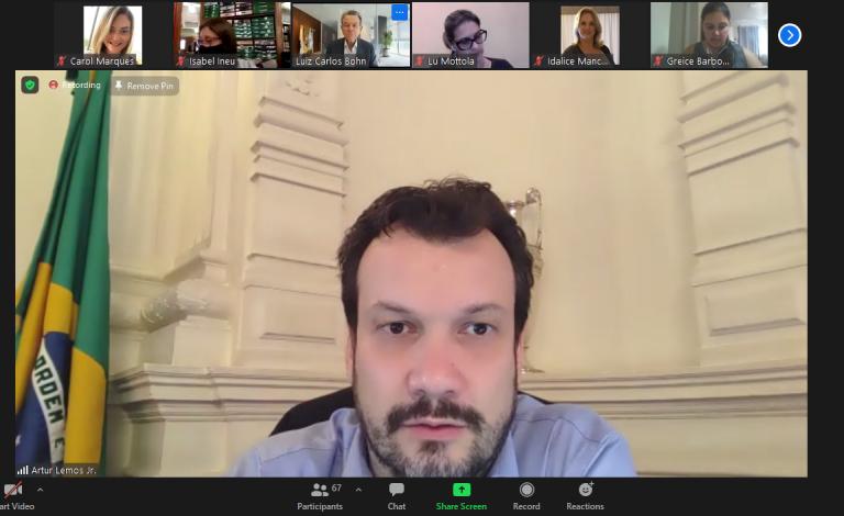 Secretário-chefe da Casa Civil, Artur Lemos, participa da reunião de Diretoria da Fecomércio-RS